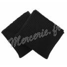 Poignets tricotés Noir